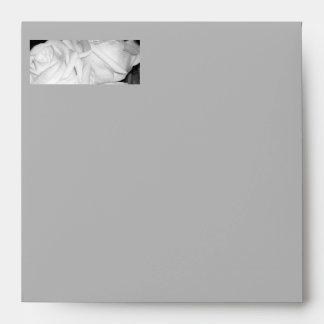 Brides White Roses Envelope