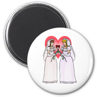 Brides with Roses in Love Fridge Magnet