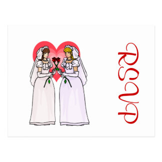 Brides with Roses in Love Postcard