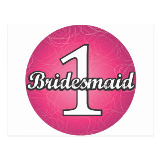 Bridesmaid #1 postcard