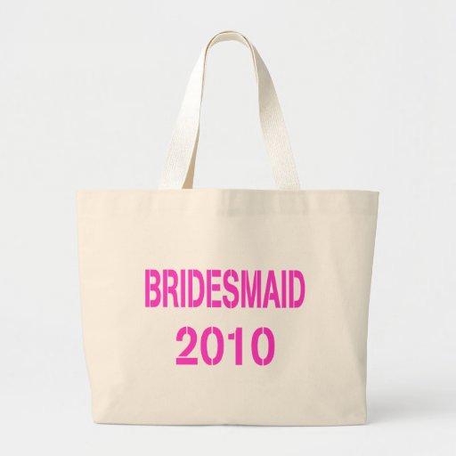 Bridesmaid 2010 large tote bag