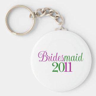 Bridesmaid 2011 basic round button keychain