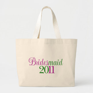 Bridesmaid 2011 large tote bag