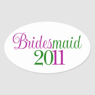 Bridesmaid 2011 oval sticker
