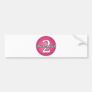 Bridesmaid #2 car bumper sticker
