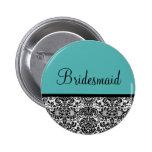 Bridesmaid 2 Inch Round Button