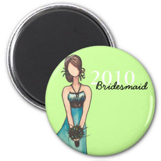 Bridesmaid 2 Inch Round Magnet