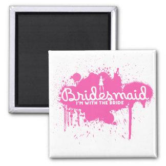 Bridesmaid 2 Inch Square Magnet