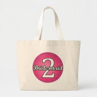 Bridesmaid #2 large tote bag