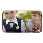 'Bridesmaid and pageboy(6-7) smiling, close-up, Barely There iPod Cover