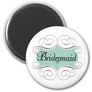 Bridesmaid Aqua Wedding Bridal Party Magnet