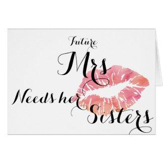 Bridesmaid ask card - pink kiss- Total template