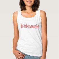 Bridesmaid Attire for Wedding Day Tank Top