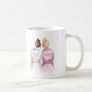 Bridesmaid? Auburn Bun Bride Bl Bun Maid Classic White Coffee Mug