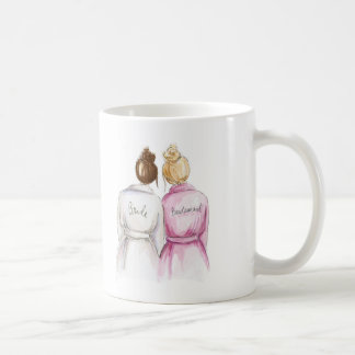 Bridesmaid? Auburn Bun Bride Bl Bun Maid Coffee Mug