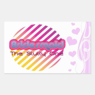 bridesmaid bachelorette wedding bridal party rectangular sticker