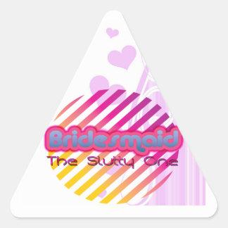 bridesmaid bachelorette wedding bridal party triangle stickers