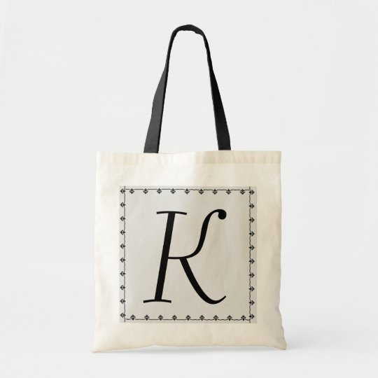 Bridesmaid Bag - BLACK Monogram SILVER Background