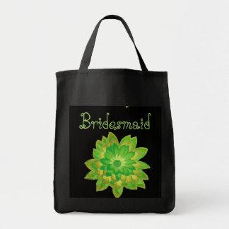 Bridesmaid Bag Green Daisy Custom Name