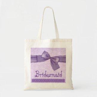 Bridesmaid Bag - Purple Textured Bow bag
