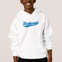 Bridesmaid (Baseball Script Blue) Hoodie