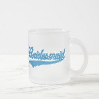 Bridesmaid (Baseball Script Blue) Coffee Mugs