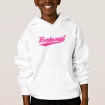 Bridesmaid (Baseball Script Pink) Hoodie