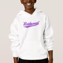 Bridesmaid (Baseball Script Purple) Hoodie