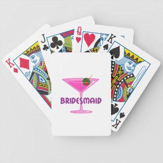 Bridesmaid Bicycle Playing Cards