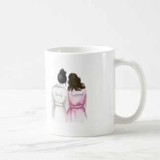 Bridesmaid? Black Bun Bride Br Waves Maid Coffee Mug