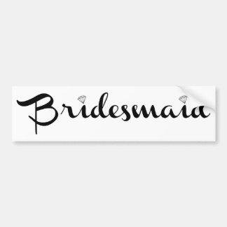 Bridesmaid Black on White Car Bumper Sticker