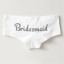 Bridesmaid bling boyshorts