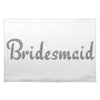Bridesmaid bling placemat