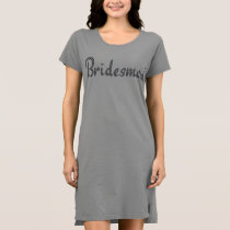 Bridesmaid bling t-shirt dress