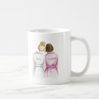 Bridesmaid? Blonde Bun Bride Brunette Bob Maid Coffee Mug