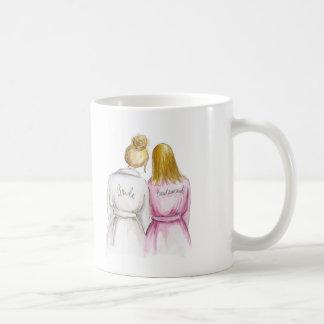 Bridesmaid? Blonde Bun Bride Dark Bl Straight Maid Classic White Coffee Mug