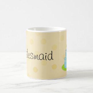 Bridesmaid Blue Designer Cake Coffee Mug