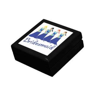 Bridesmaid Blue Dress Jewelry Box