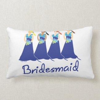Bridesmaid Blue Dress Pillows
