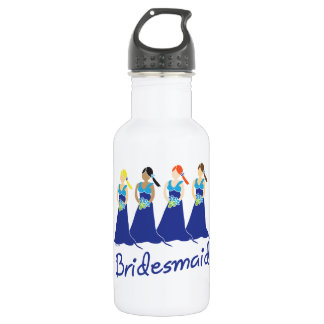 Bridesmaid Blue Dress Stainless Steel Water Bottle