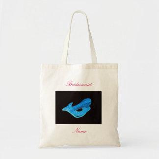 Bridesmaid  blue mermaid tote bag