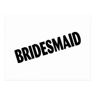 Bridesmaid (Bold Black) Postcard