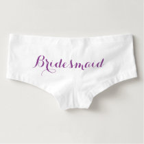 Bridesmaid Boyshorts Underwear