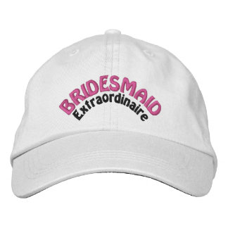 Bridesmaid Bridal Party Embroidered Hat