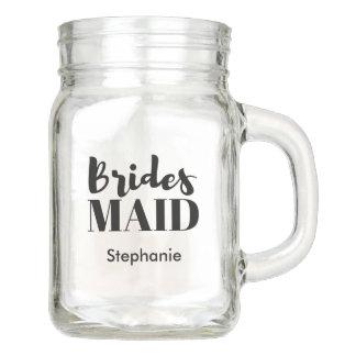 Bridesmaid Bridal Party Wedding Mason Jar