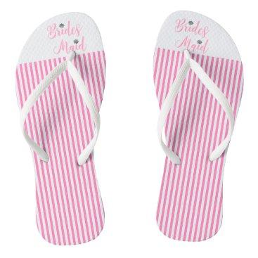 Beach Themed Bridesmaid, Bridal,Wedding, Pink Cute Flip Flops