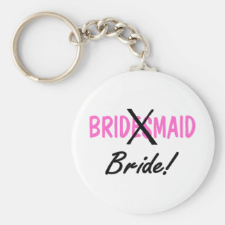 Bridesmaid Bride Keychain