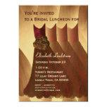 Bridesmaid Brunch Chocolate Gold Dresses Metallic Announcement