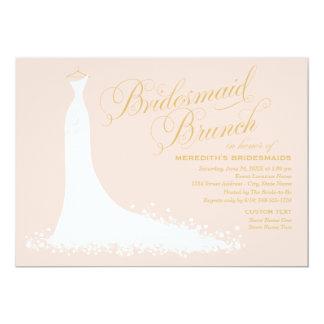 Bridesmaid Brunch   Elegant Wedding Gown Card