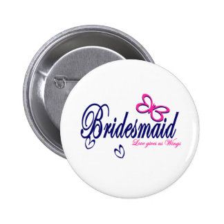 Bridesmaid/ Butterfly theme Button